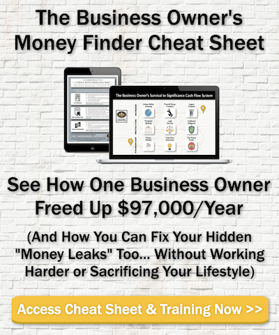 Business Owners Money Finder Cheat Sheet
