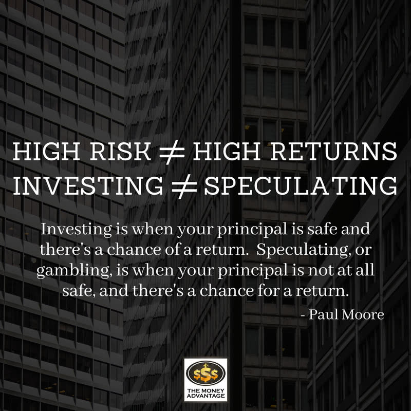 High Risk Does Not Equal High Returns - Paul Moore