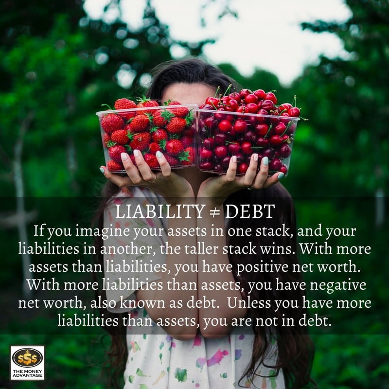 Debt free is not the same thing as liability free