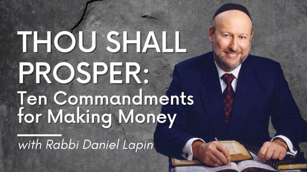 Rabbi Daniel Lapin Thou Shall Prosper